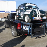 Race of Austrian Champions Steyr Puch 650 Dodge RAM Pick Up Transporter