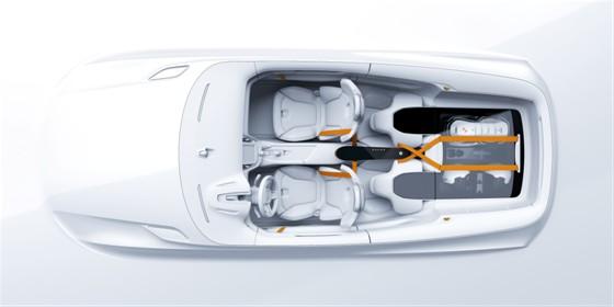 Volvo Concept XC Coupé Innenraum Design Skizze Zeichnung