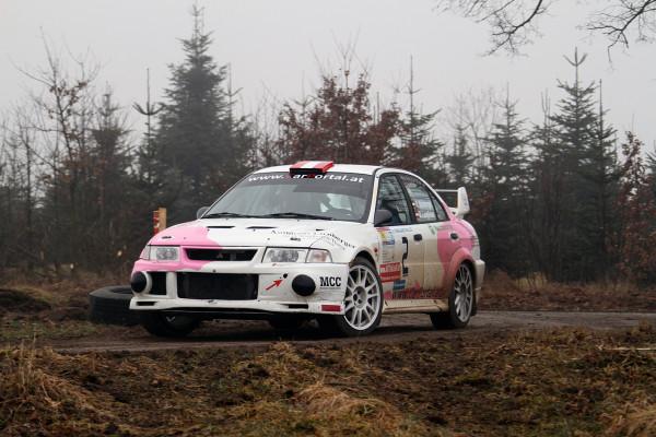 Schneerosen Rallye Roman Mühlberger Mitsubishi Lancer Evo