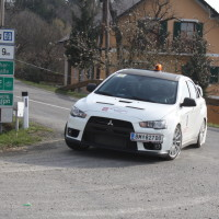 Rebenland Rallye 2014 Vorausauto Safety Car Mitsubishi Lancer EVO X SP 6 Poharnigberg