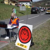 Rebenland Rallye 2014 SP 9 Glanz Zeitkontrolle Start