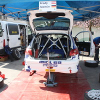 Rebenland Rallye 2014 Peugeot 206 RC Alfred Leitner Service