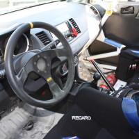 Rebenland Rallye 2014 Mitsubishi EVO X Hermann Gaßner Service Innenraum Cockpit