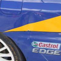 Rebenland Rallye 2014 Mitsubishi EVO IX Asja Zupanc Service Schaden Unfall Beule Delle