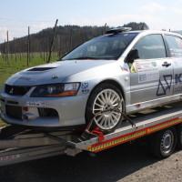 Rebenland Rallye 2014 Mitsubishi Lancer EVO IX Viacheslav Chulyukanov Service Russland