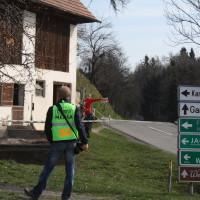 Rebenland Rallye 2014 Warnung Gebrechen Vorsicht VW Golf GTi 16 V Bernd Gebetsberger Bernd Daniela Reiterer SP 6