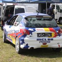Lavanttal Rallye 2014 Peugeot 206 RC Alfred Leitner Jasmin Noll Service