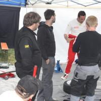 Lavanttal Rallye 2014 Service Crew Mechaniker Besprechnung Rallye Fahrer Pilot