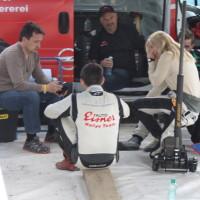 Lavanttal Rallye 2014 Service Crew Mechaniker Besprechnung Rallye Fahrer Pilot Beifahrerin Co-Pilotin