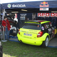 Lavanttal Rallye 2014 Skoda Fabia S2000 Chris Brugger Klaus Wicha Service