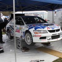 Lavanttal Rallye 2014 Mitsubishi Lancer EVO IX Jani Trcek Service