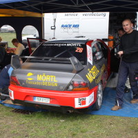 Lavanttal Rallye 2014 Mitsubishi Lancer EVO IX R4 Andreas Mörtl Service