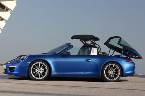 Porsche 911 Targa Dach öffnen