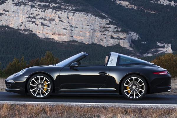 Porsche 911 Targa Seite offenes Targa Dach