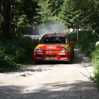 Schneebergland Rallye 2014 Vorausauto Mitsubishi Lancer Evo Franz Wittmann jun