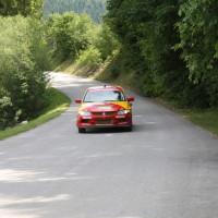 Schneebergland Rallye 2014 Vorausauto Mitsubishi Lancer Evo Franz Wittmann jun Service