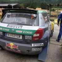 Schneebergland Rallye 2014 Skoda Fabia S2000 Raimund Baumschlager Thomas Zeltner Service