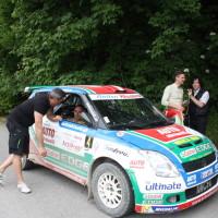 Schneebergland Rallye 2014 Suzuki Swift S1600 Michael Böhm Service