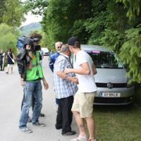 Schneebergland Rallye 2014 Service Hermann Neubauer ORF Kamerateam Interview