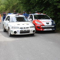 Schneebergland Rallye 2014 Peugeot 207 S2000 Walter Mayer Service Mazda 323 GTR