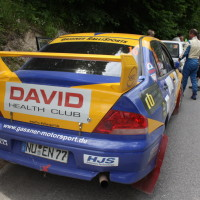 Schneebergland Rallye 2014 Mitsubishi Lancer EVO VII Dr. Marius Klein Service