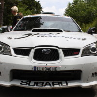 Schneebergland Rallye 2014 Subaru Impreza STI Michael Mascherbauer Claudia Dorfbauer Service