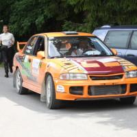 Schneebergland Rallye 2014 Mitsubishi Lancer EVO III Gerhard Hajszan Andrea Gibley Service
