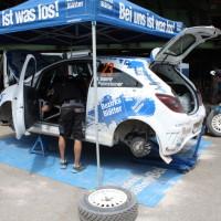 Schneebergland Rallye 2014 Opel Corsa Wolfram Doberer Service