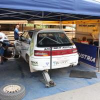 Schneebergland Rallye 2014 Mazda 323 GTR Michael Reischer Service