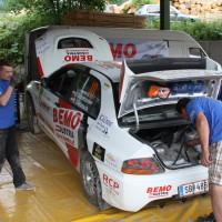 Schneebergland Rallye 2014 Mitsubishi Lancer EVO IX Anton Schatzeder Service