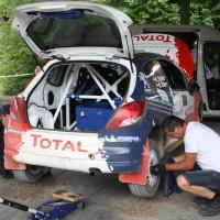 Schneebergland Rallye 2014 Peugeot 207 RC R3T Alois Handler Andreas Scherz Service