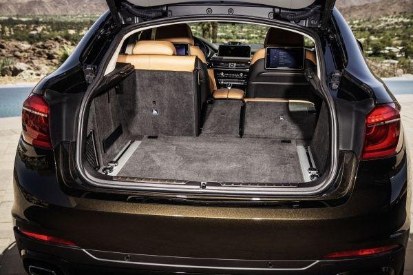 neue BMW X6  Kofferraum Exclusivleder Nappa, erweitert CognacSchwarz Interieurdesign Pure Extravagance Cognac