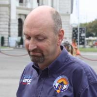 BloodhoundSSC Ingenieur Fahrer Castrol Wien 2014