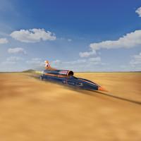 BloodhoundSSC_front_dynamic Wüste