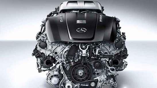 Mercedes-Benz Biturbo-V8 GT AMG Motor