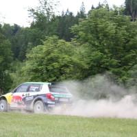 Schneebergland Rallye 2014 Skoda Fabia S2000 Raimund Baumschlager Thomas Zeltner SP 12