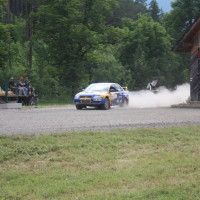 Schneebergland Rallye 2014 Mitsubishi Lancer EVO VII Dr. Marius Klein SP12