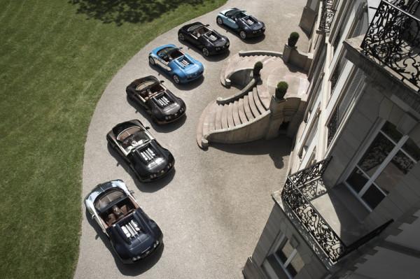 Die sechs Bugatti-Supersportler aus der Edition Les Légendes de Bugatti