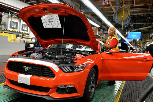 Produktion Ford Mustang USA Europa