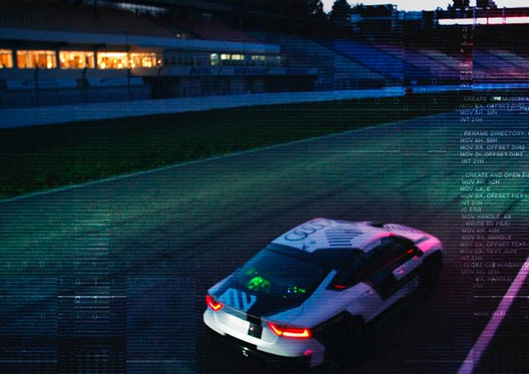 Audi RS7 piloted driving concept Hockenheimring