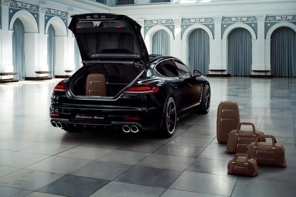Porsche Panamera als Sondermodell Exklusive Series Kofferraum