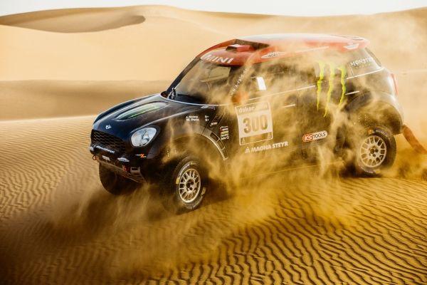 "Joan ""Nani"" Roma  Michel Périn MINI ALL4 Racing # 300 Monster Energy Rally Raid Team - Dakar 2015"