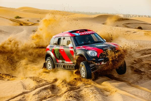 "Orlando Terranova Bernardo ""Ronnie"" Graue MINI ALL4 Racing # 305 Monster Energy Rally Raid Team - Dakar 2015"