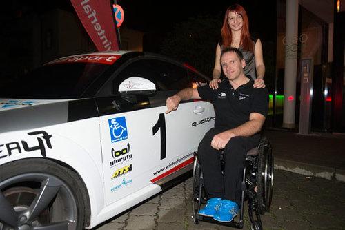 Reini Sampl mit Audi TT quattro Rallye Premiere