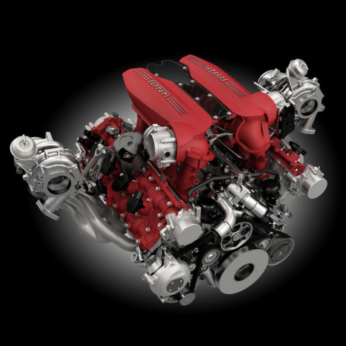 Ferrari 488 GTB Turbo Motor