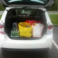 Toyota Verso Kofferraum Einkauf