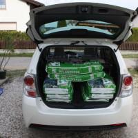 Toyota Verso Kofferraum beladen