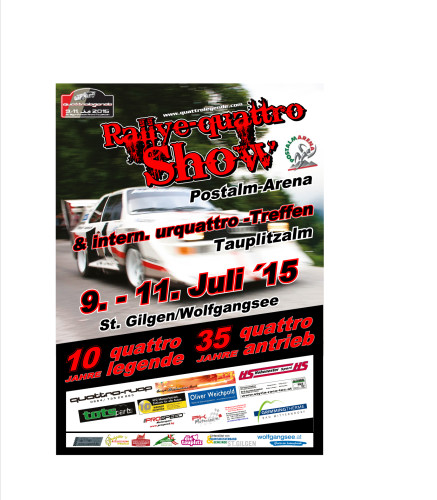Plakat Quattro 2015 Legenden Treffen Audi