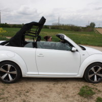 VW Beetle Cabriolet Verdeck öffnen