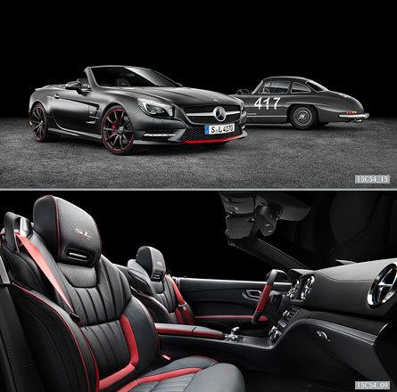 Mercedes Benz SL Sondermodell Mille Miglia 417 alt Innenraum